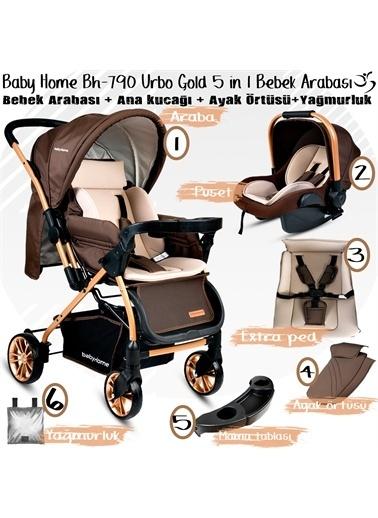 Baby Home Baby Home 790 Urbo Travel Sistem Bebek Arabası 600 Oyun Parkı Yatak Beşik Antrasit